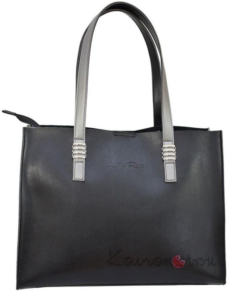 34108f69d167 Купить Женская сумка экокожа черная серебро 548 ✅ (100% Лучшей Цене)